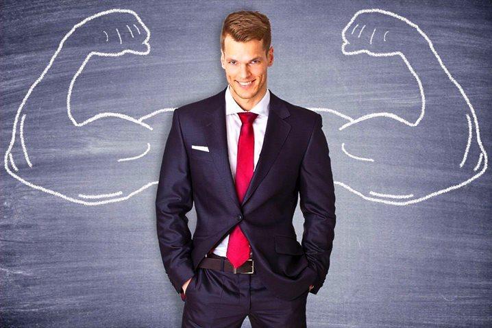 успешный и сильный мужчина