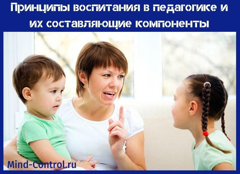 принципы воспитания в педагогике
