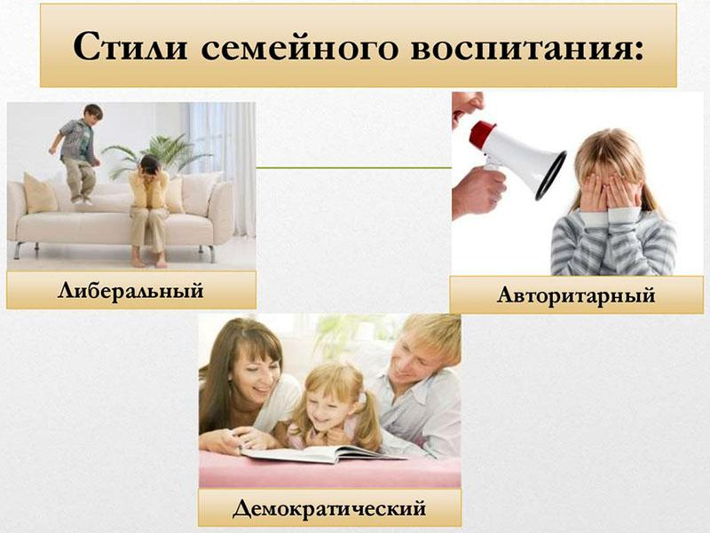 основные стили семейного воспитания