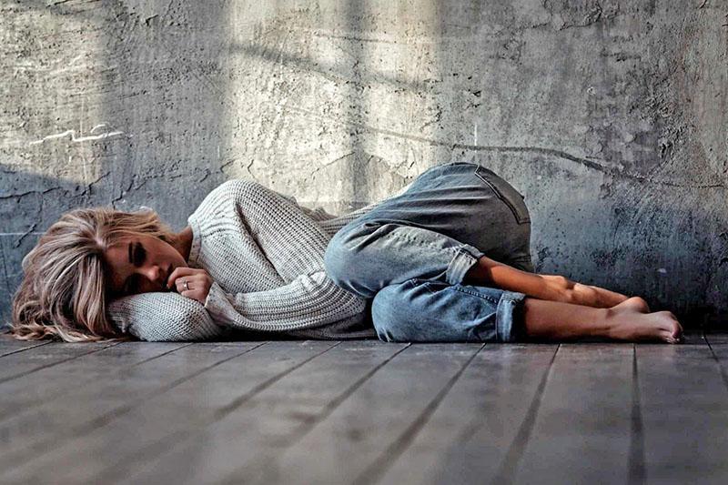 умеренная депрессия у женщины