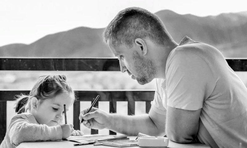 общение папы с дочерью