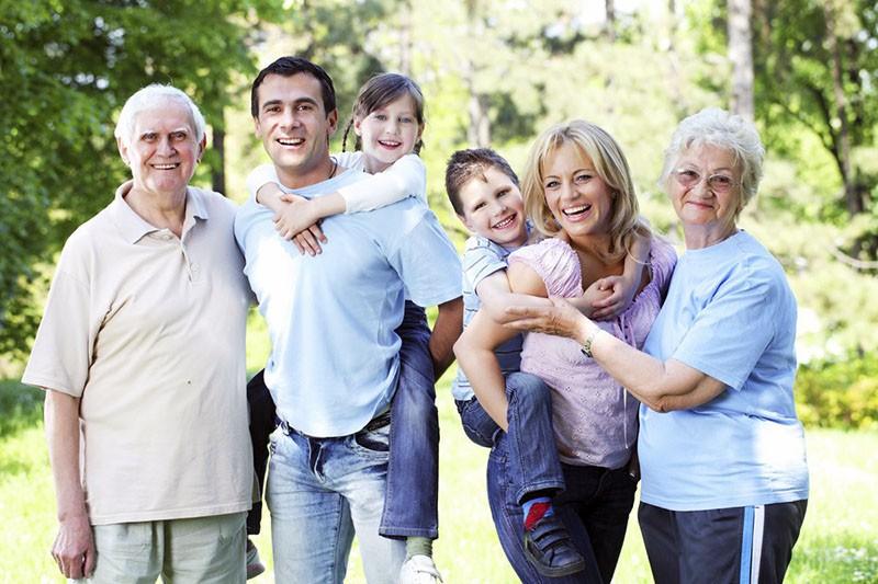 три поколения одной семьи