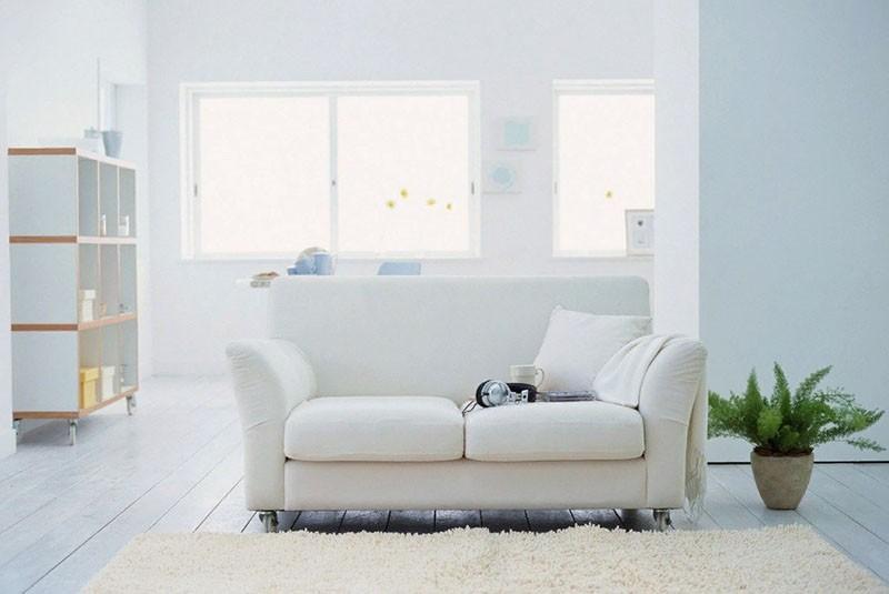 использование белого цвета в интерьере